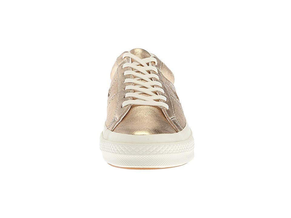 Metallic Leather Ox Shoes Gold