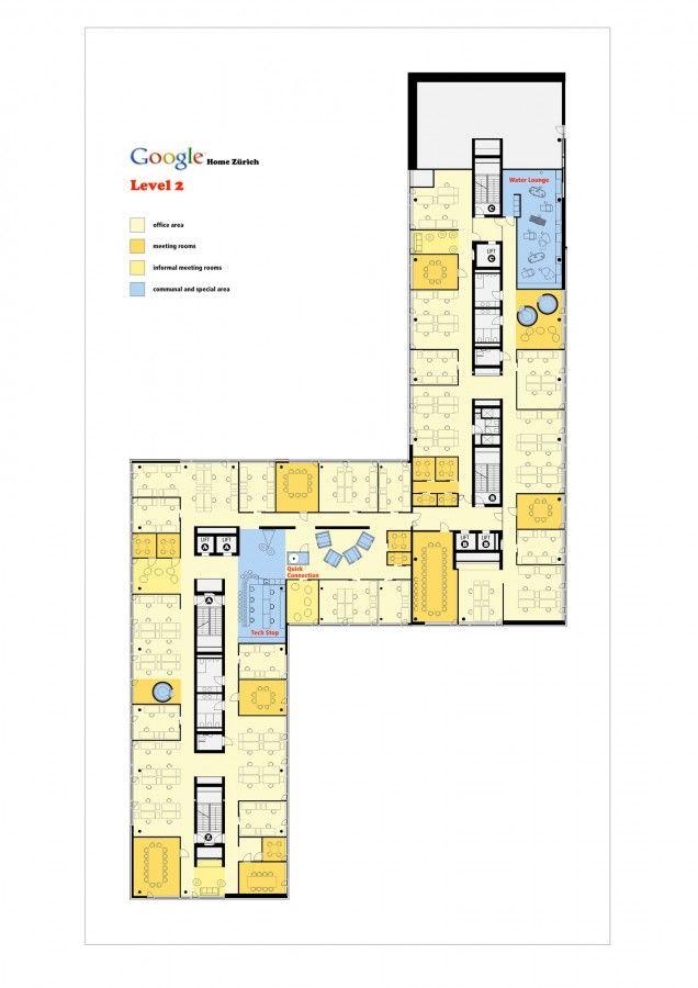 Google Emea Engineering Hub Camezind Evolution How To Plan Office Floor Plan Floor Plans