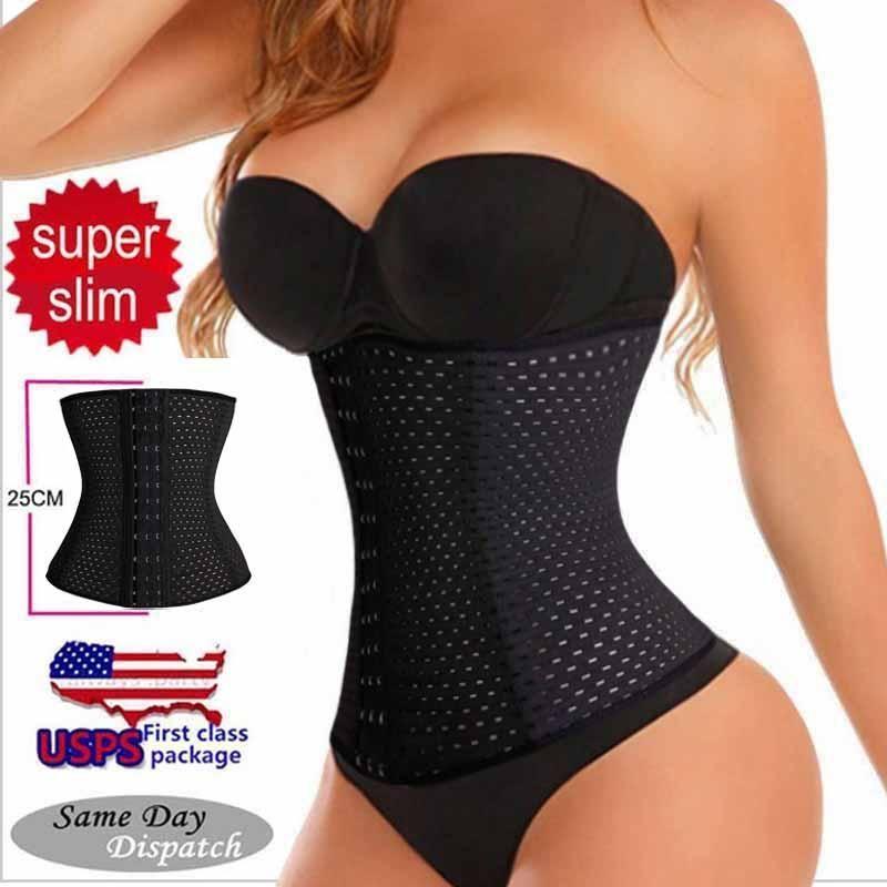 2194a9578e2 Black Beige Fitness Fat Burning Girdle Belt Sexy Women Body Waist Trai