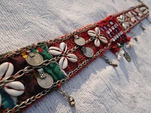 Belt decorated with coins and cowries