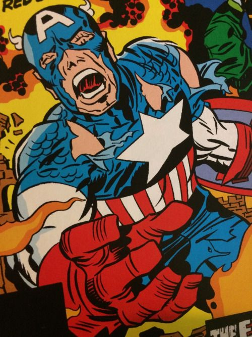 KIRBY HANDS!! (Captain America and Falcon #212 cover)