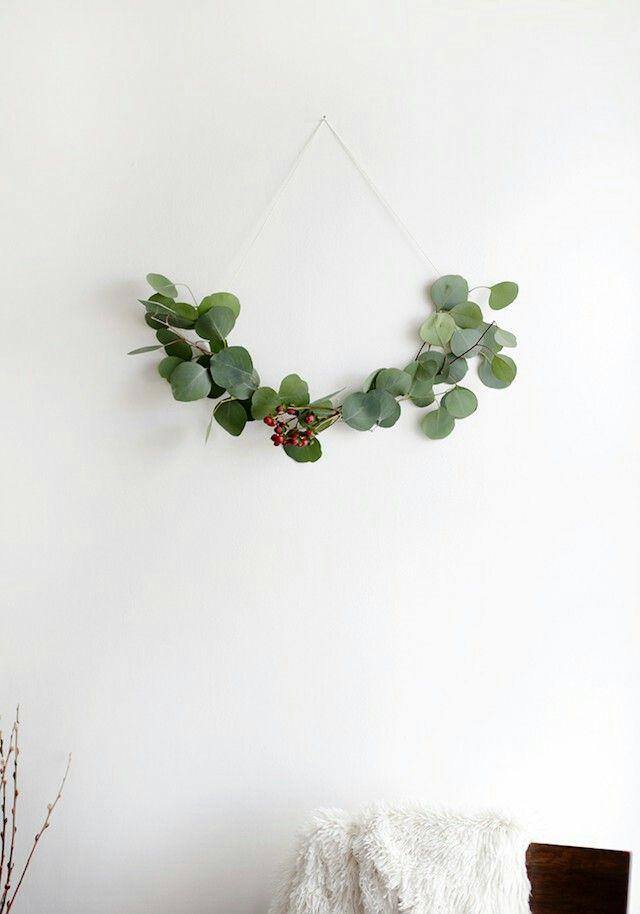 minimal garland For the Home Pinterest Flores secas, Coronas - flores secas