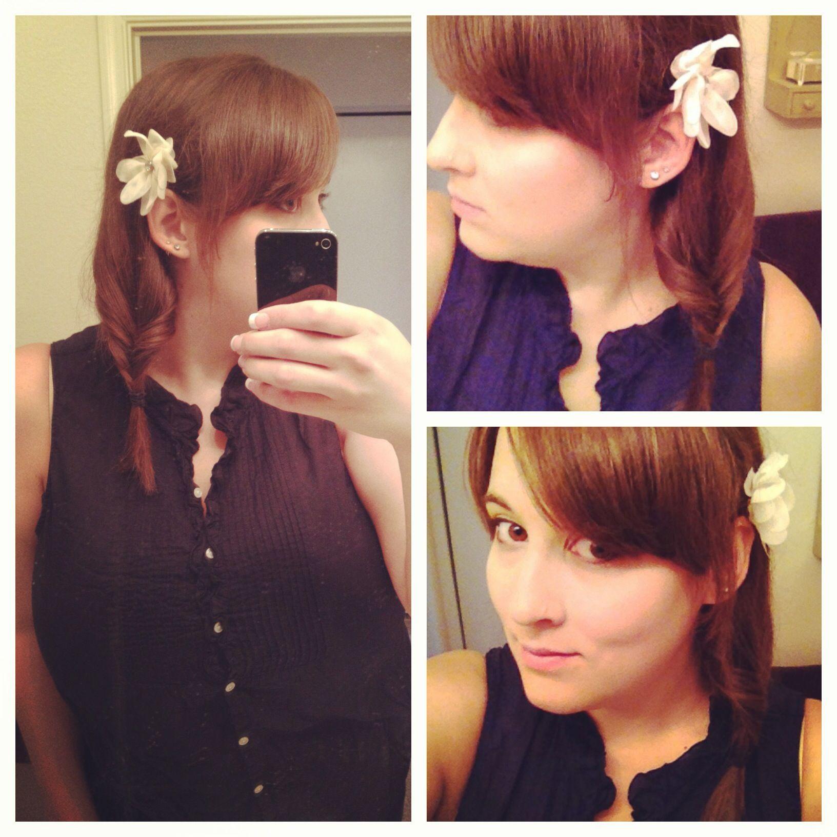 Messy side fishtail braid medium hair makeuphair pinterest
