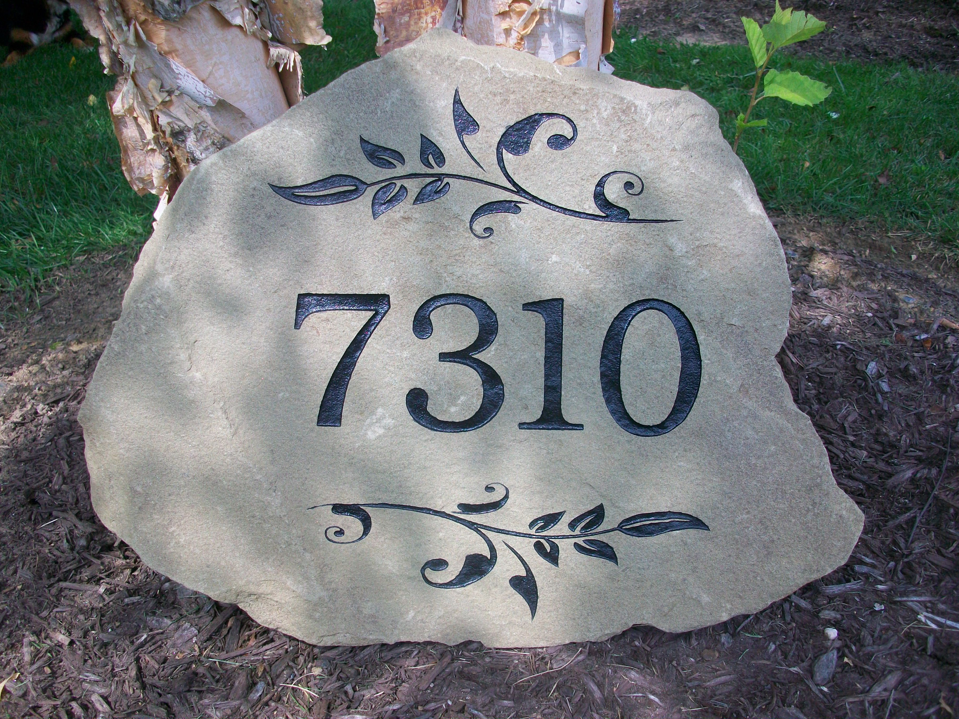 Custom Engraved Stone Address Marker Engraved Stones In