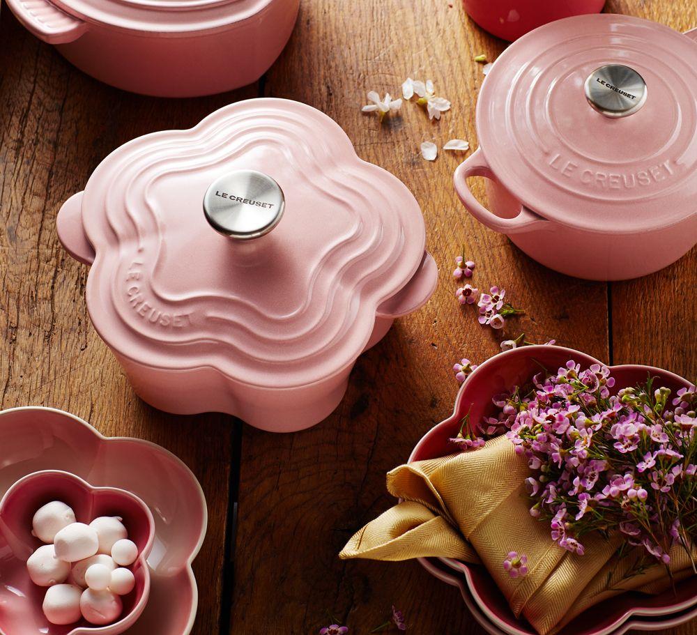 promotions chifoon pink flower casserole le creuset singapore all about hair pinterest. Black Bedroom Furniture Sets. Home Design Ideas