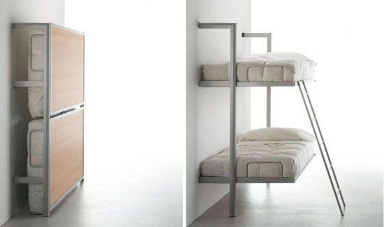 Camas plegables adosadas a la pared moda y hogar - Cama pared plegable ...