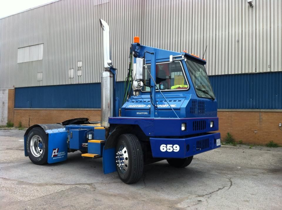 2006 ottaw/Kalmar yard truck owned buy fleetway transport in Brantford on.ca. powered by c7 cat and automatic trans.