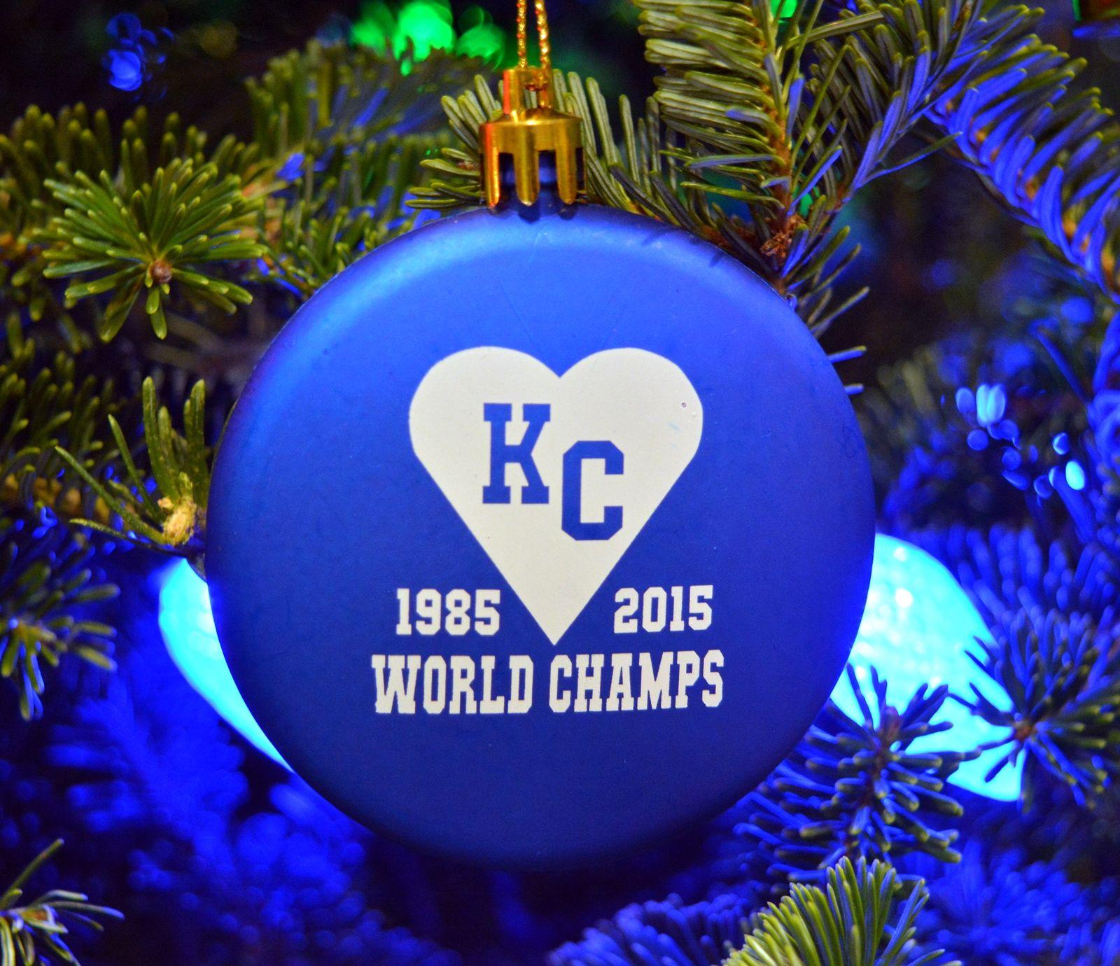 Kansas City World Champs Christmas Ornament | Slik Hound | Royals ...