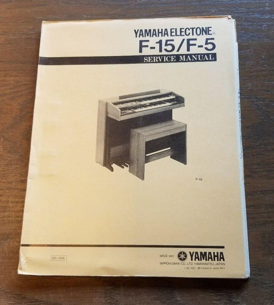 yamaha electone f 45 f 35 organ service repair manual parts list rh pinterest com Yamaha V Star 950 Auto Repair Manual