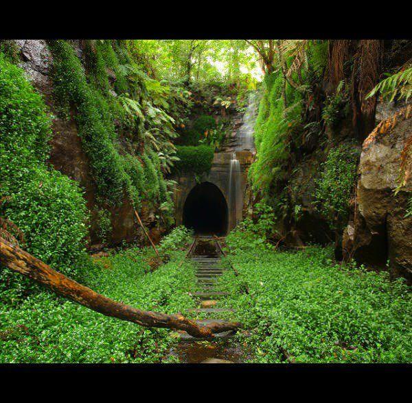 Helensburgh Abandoned Train Tunnel in Australia