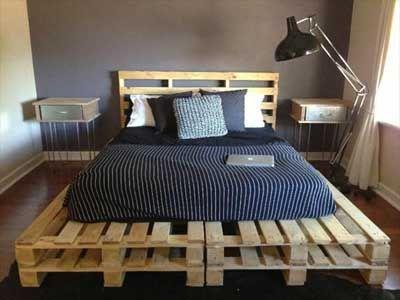 20 camas hechas con paléts de madera. | Ideas de decoracion, Camas y ...
