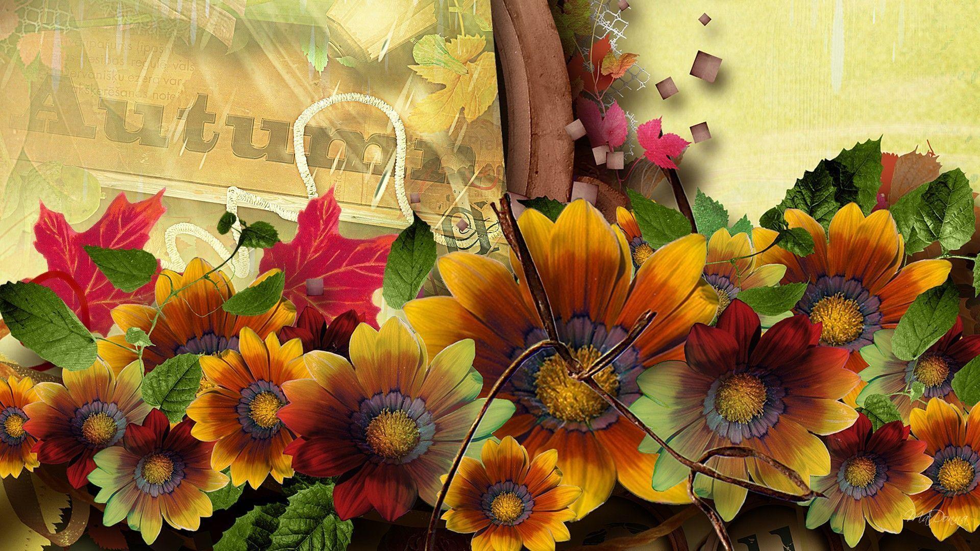 Картинки осень цветы на рабочий стол, открыток мдм