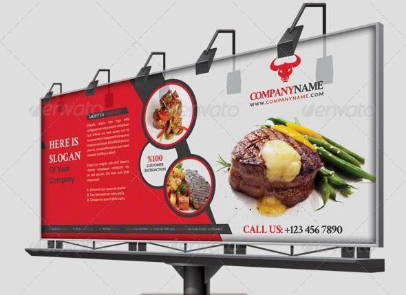 Awesome beautiful restaurant banner billboard