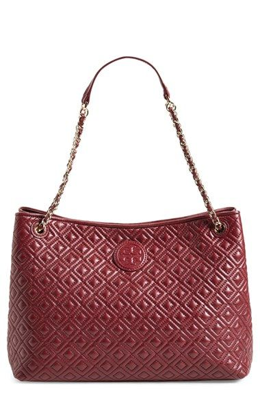 68842cce6d Tory Burch 'Marion' Diamond Quilted Leather Tote in Hudson Blue! available  at #Nordstrom