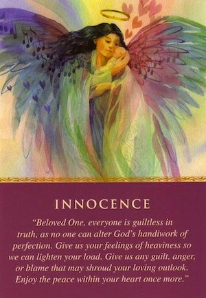 The card comes as reassurance that this situation and the people involved are guiltless. If you've been harboring guilt, release it to the angels... (click image to keep reading)