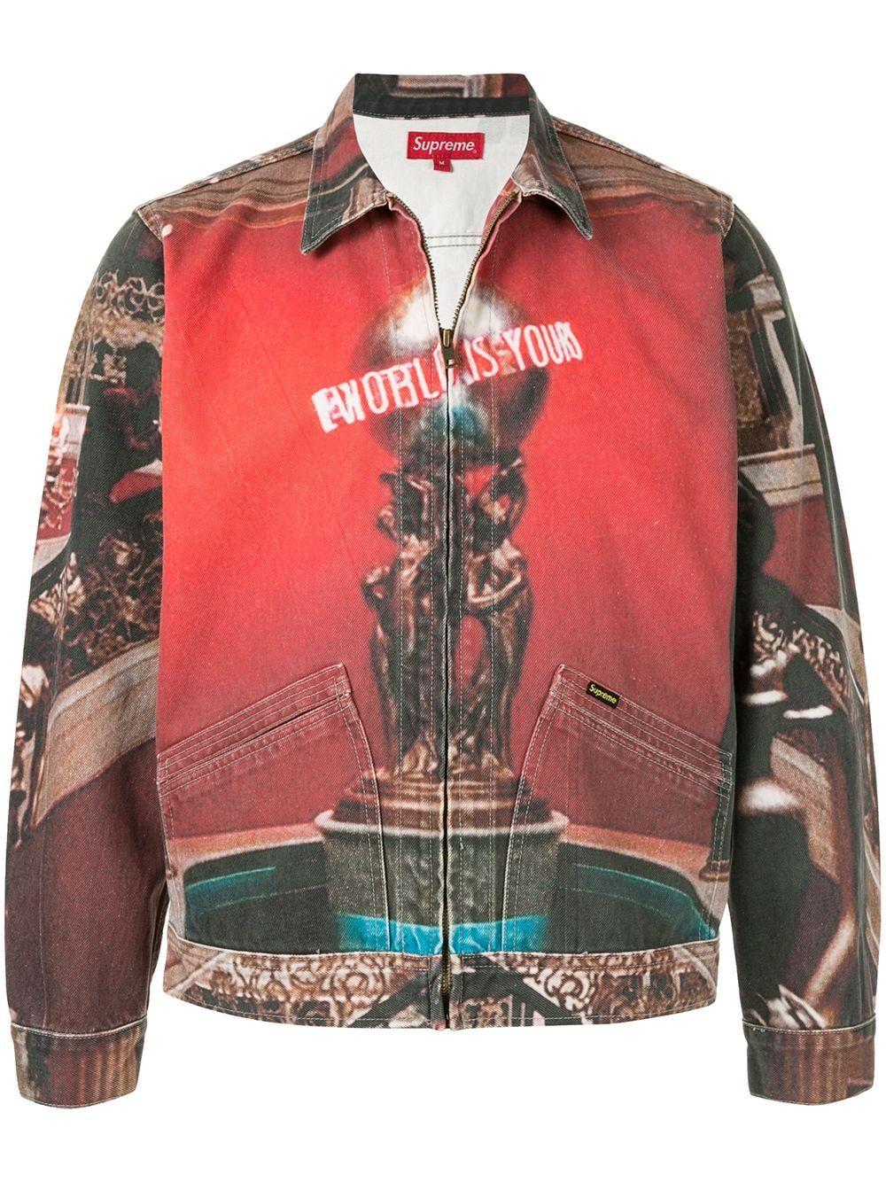 Supreme Scarface Denim Jacket Farfetch Designer Jackets For Men Designer Clothes For Men Scarface [ 1334 x 1000 Pixel ]