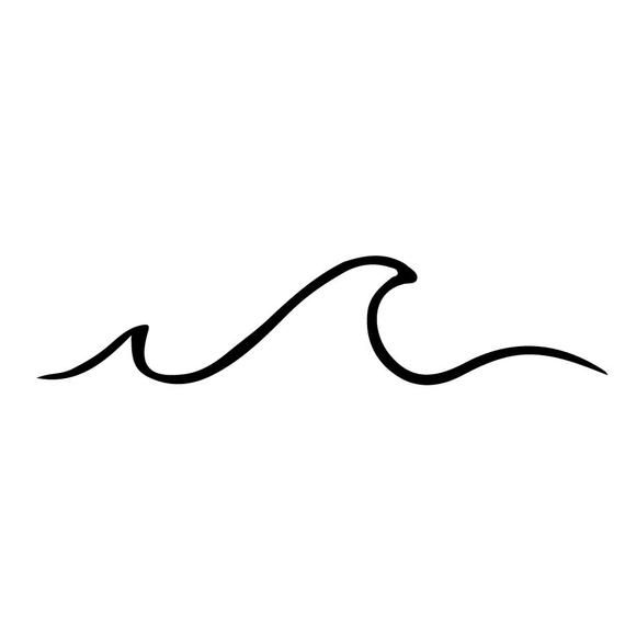 Wave Sticker  Wave Decal  Wave  Sea Decal  Ocean Decal   Etsy