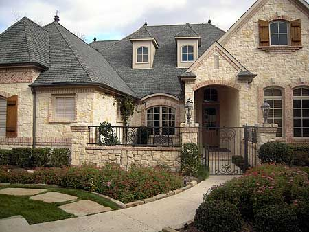 plan 36180tx french country estate with courtyard