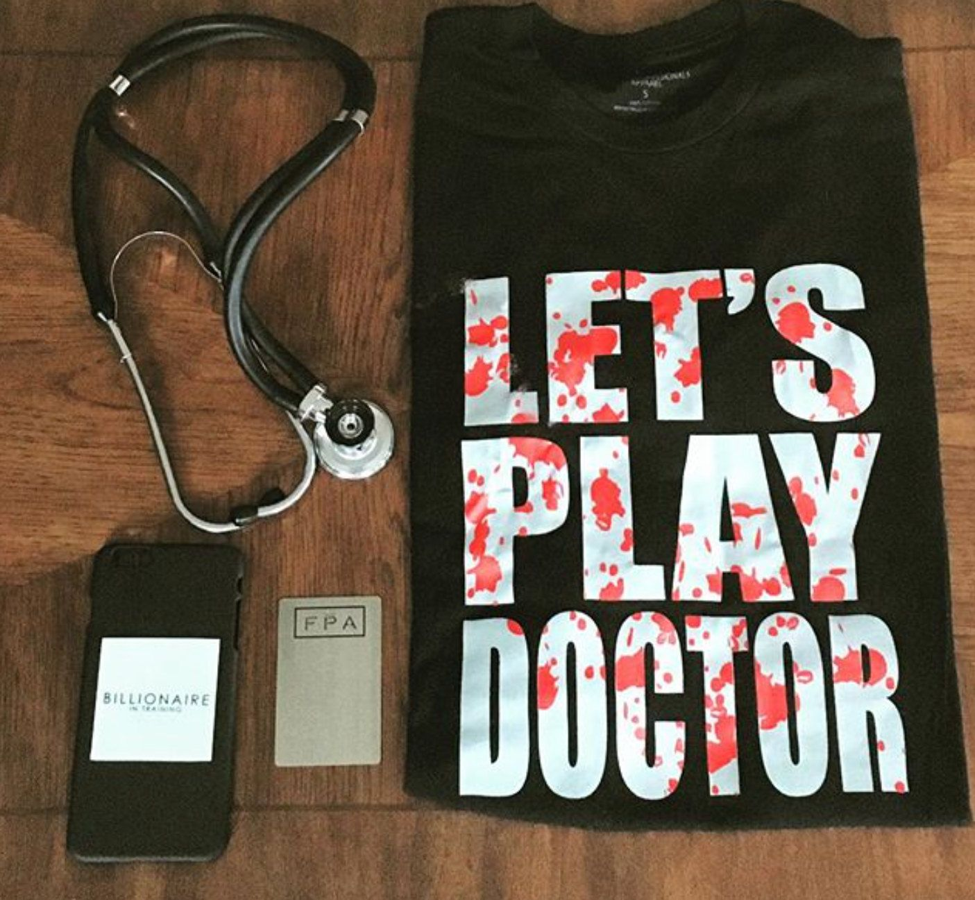 Let's Play Doctor Tee, Medical Student T-shirts, Med School Shirts, gifts for medical student, doctor t-shirts, mens fashion, mens t-shirt by FPALosAngeles on Etsy