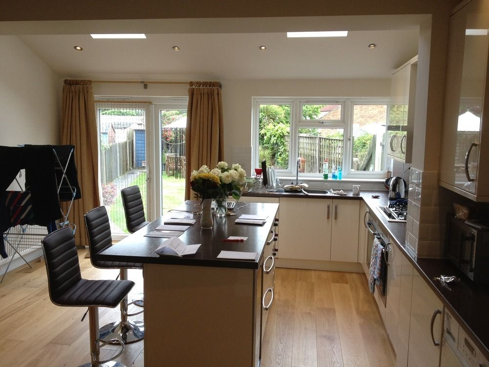 Pitched Roof Kitchen Extension Interior
