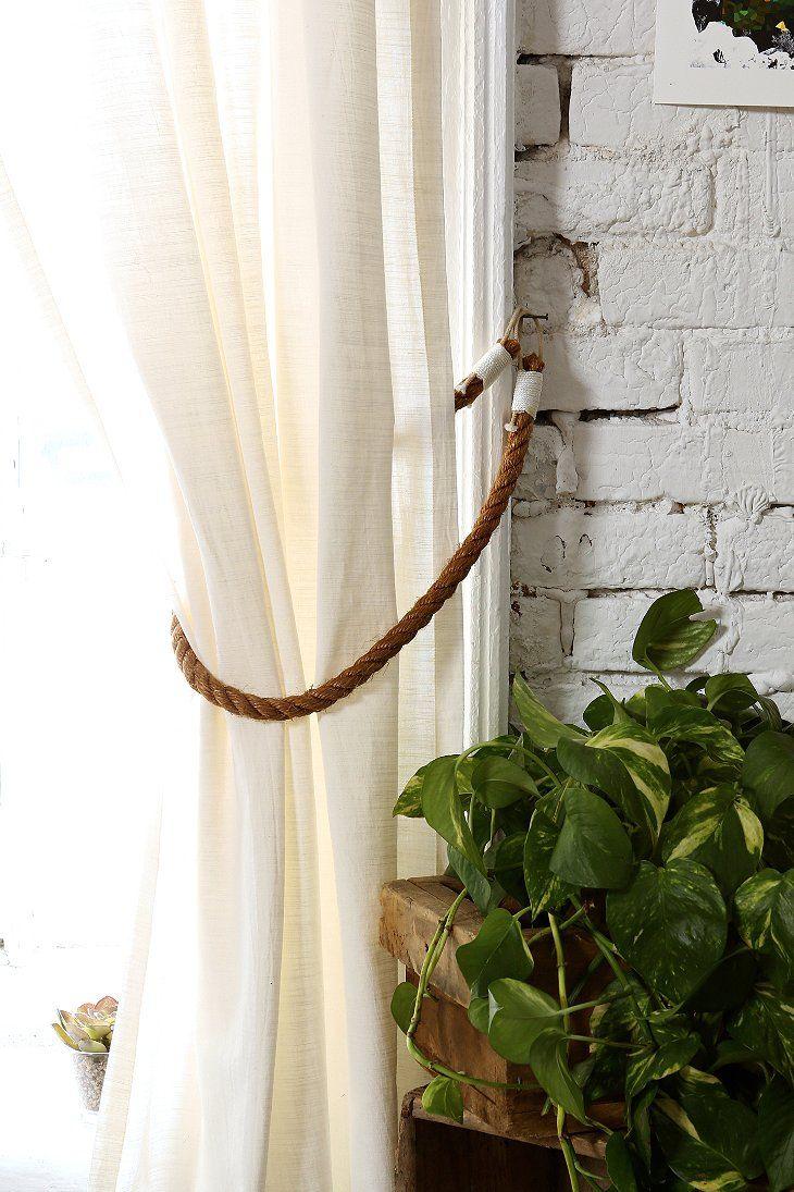 locust rope curtain tieback home pinterest curtain ties