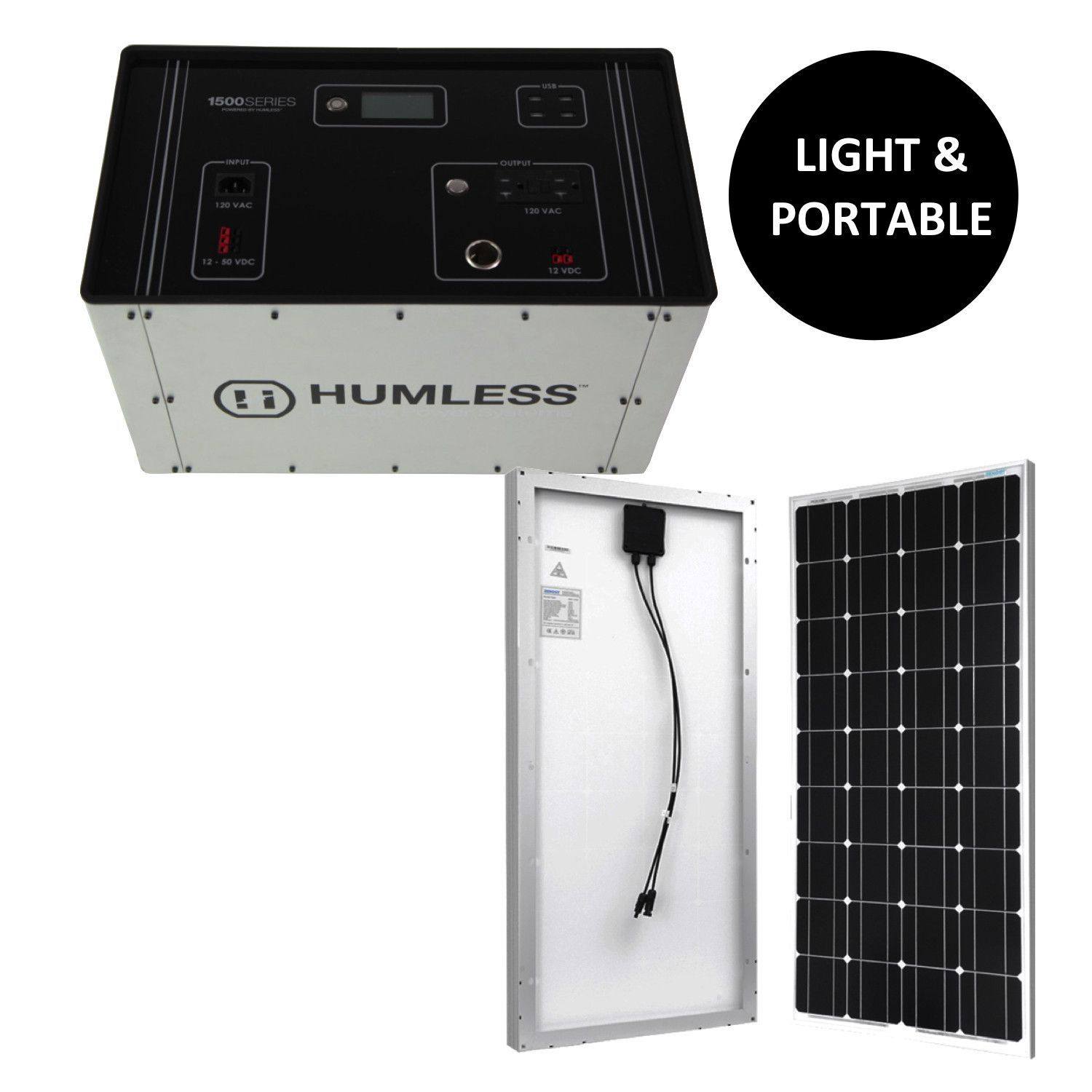 Humless 1500 Series With 100 Watt Solar Panel Kit Solar Panel Kits Solar Power Panels Best Solar Panels