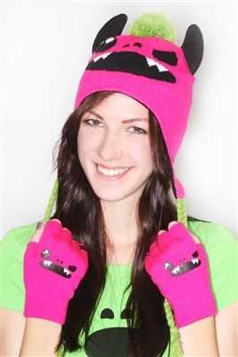 So So Happy Taco Peruvian Beanie And Fingerless Glove Set -  $19.95