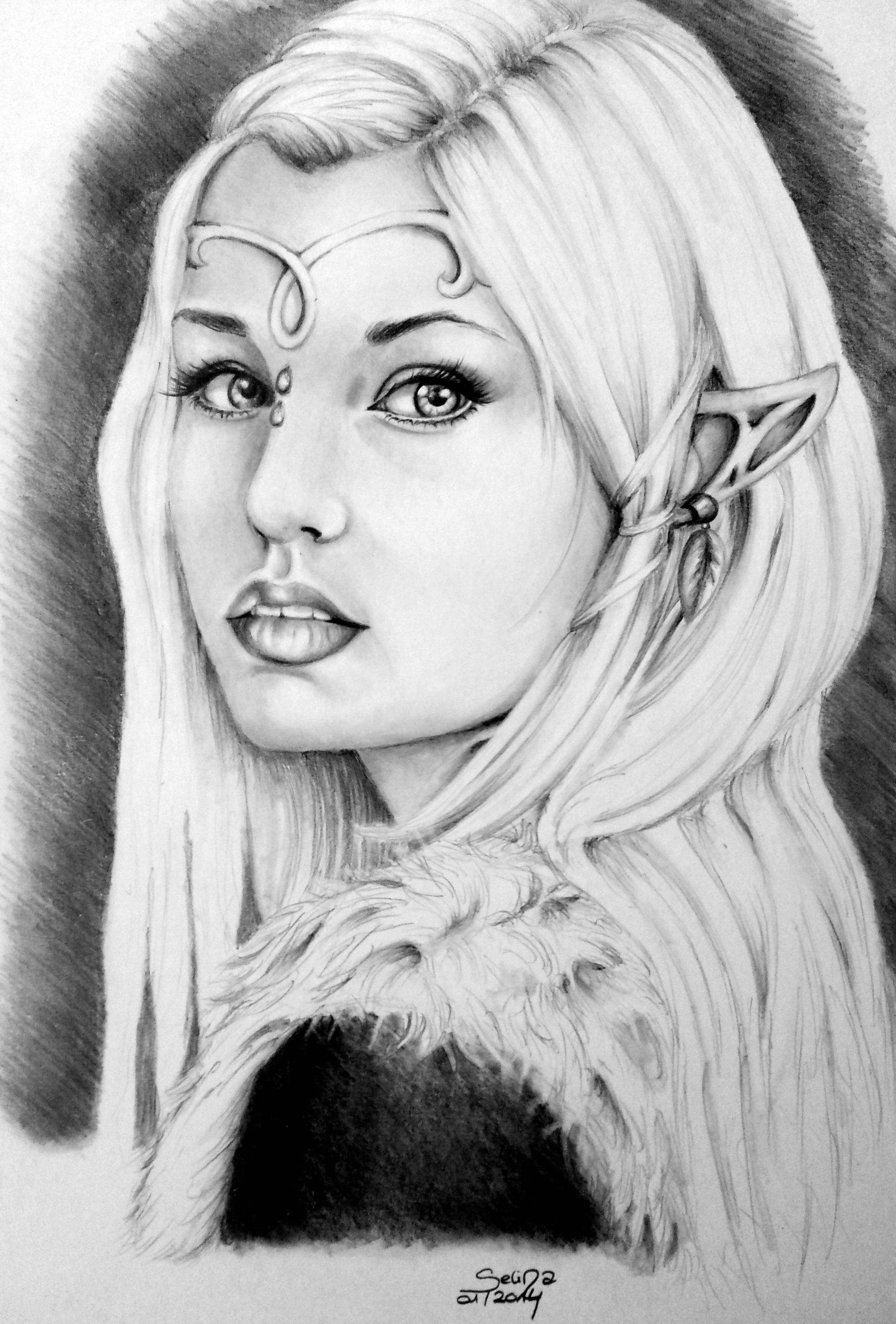 Amazing Drawing Fantasy Elves Pencil Art And Drawings