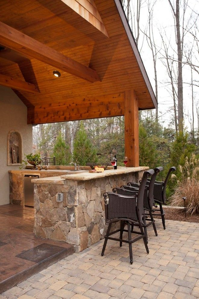 rustic Outdoor Kitchen on a budget backyards patio ideas - Rustic Outdoor Kitchen On A Budget Backyards Patio Ideas BACKYARD