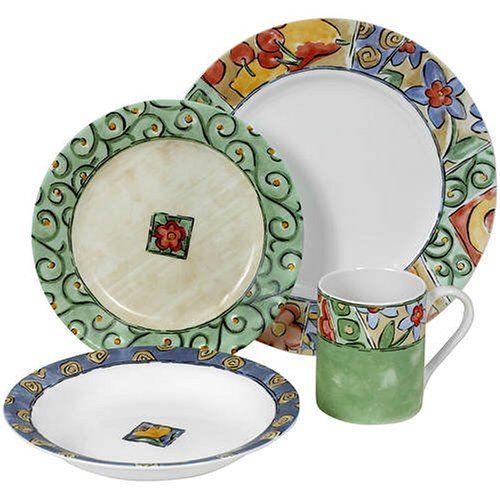 Corelle Watercolors Dinner Plates