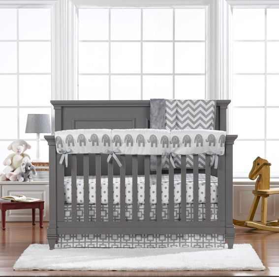 Gray Baby Bedding Mix And Match Liz, Grey And Crib Bedding