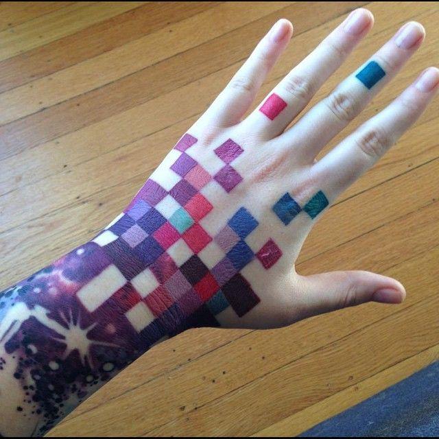 Pixelated hand by Teresa Sharpe!