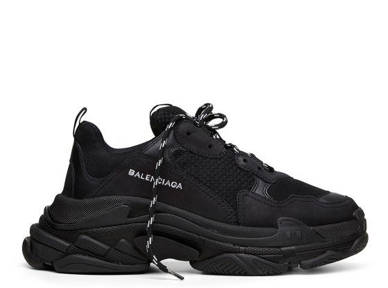 0e7b6ca447096 $235 Perfect Balenciaga Triple S Trainers Black Free Shipping Worldwide shop  | Sneaker King