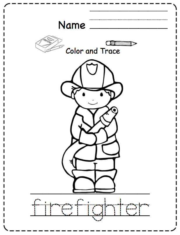 Toddler Community Helpers ~ Preschool Printables