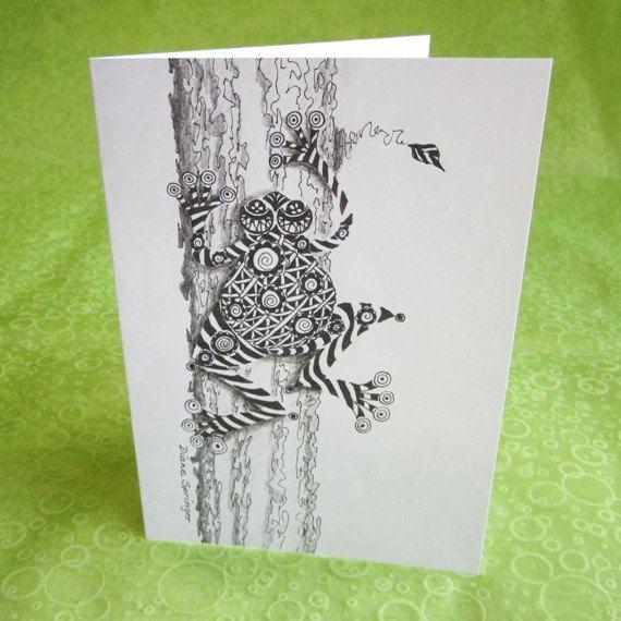 Zentangle Frog Cards
