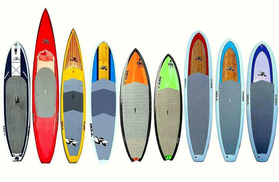 diferentes tablas paddle surf