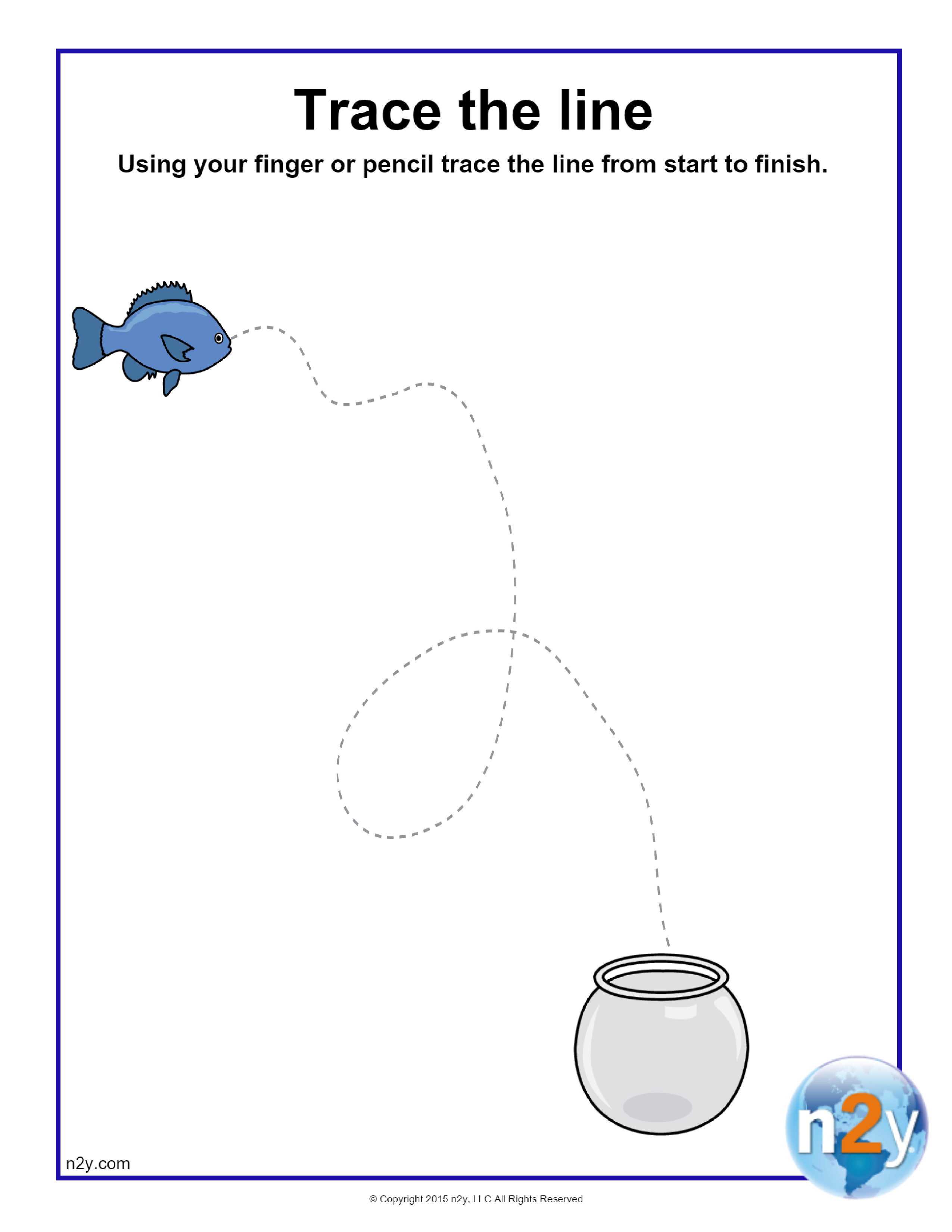 Put The Fish Back In Its Bowl By Tracing The Line