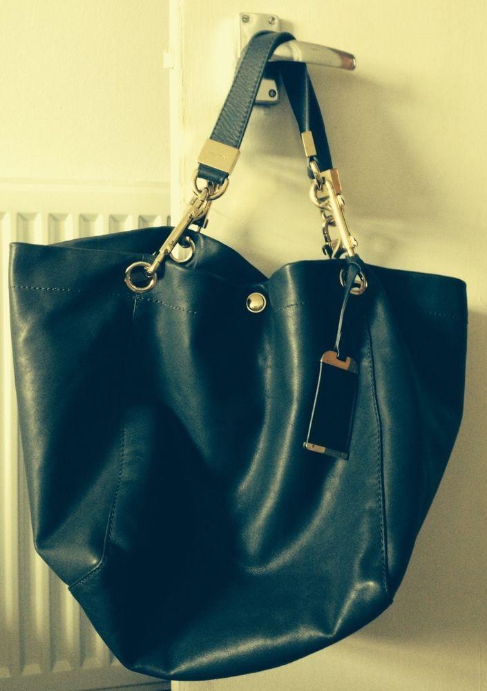 Authentic Jimmy Choo Handbag - preloved Dark Green Leather Lohla tote