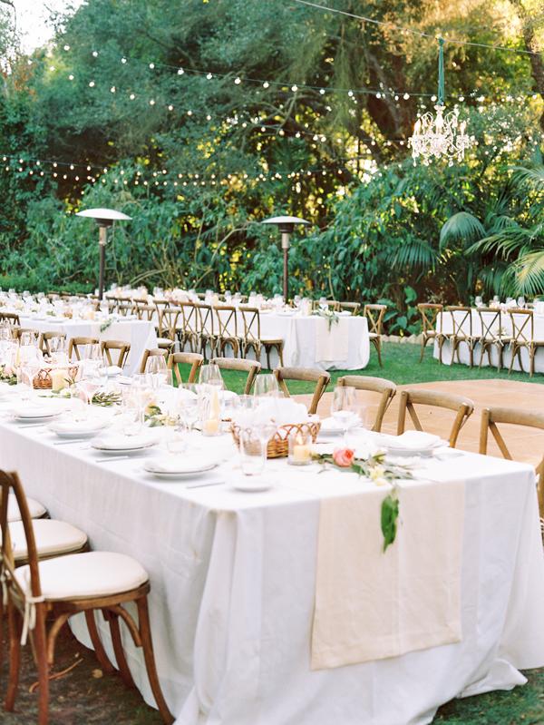 Elegant Outdoor Montecito Wedding | Elegant backyard ...