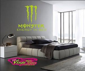 Mini Kühlschrank Monster Energy : Large monster energy wall decals colbie riding