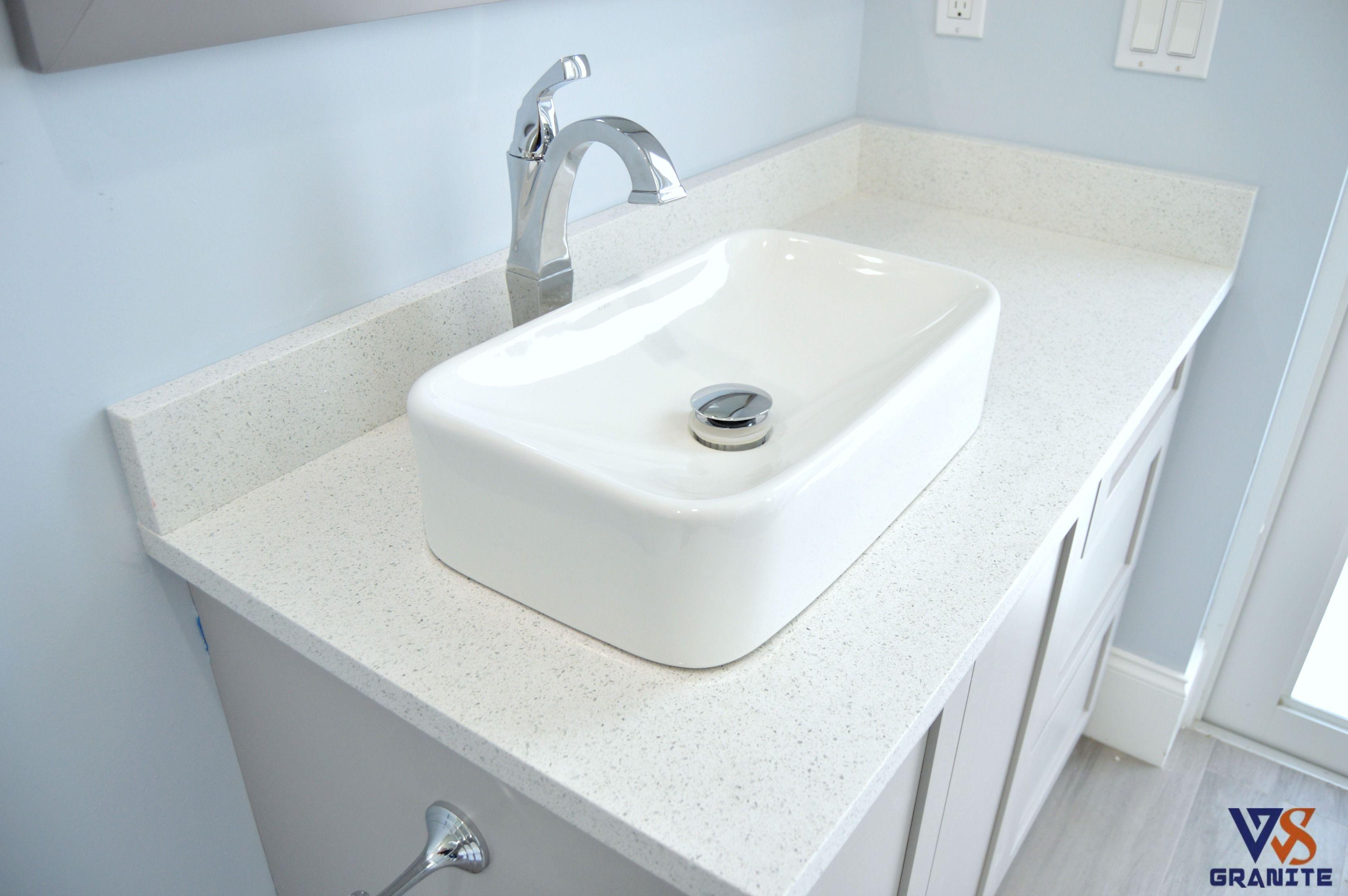 Cabana Bath Material Sparkling White Quartz From Msi With