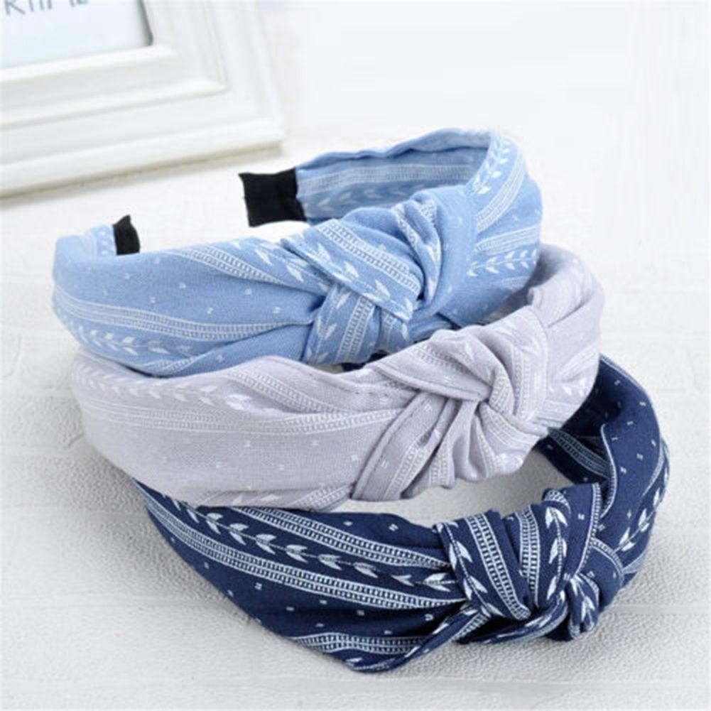 Women Bow Knot Hairband Turban Band Hoop Hair Fashion Accessories Headband Gift