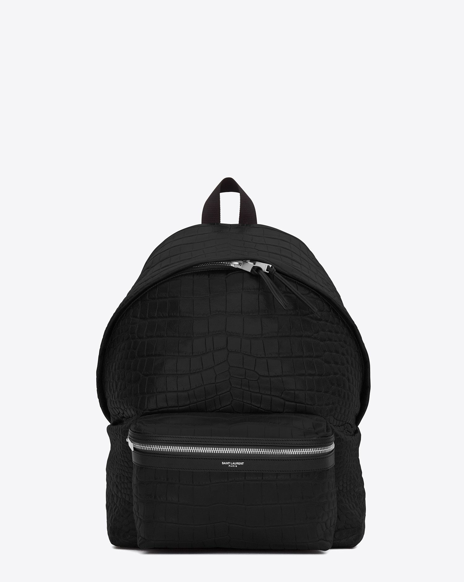 9f1341932ab Saint Laurent Classic City Backpack In Black Crocodile Embossed Leather |  YSL.com