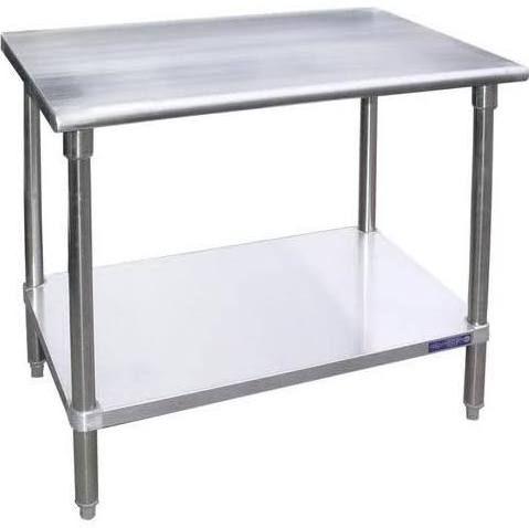 Universal Sg2436 36 X 24 Stainless Steel Work Table W Galvanized Under Shelf Stainless Steel Work Table Stainless Steel Table Work Table