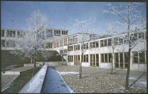Max Bill Hochschule Für Gestaltung Ulm Architecture Facade Architecture College Design