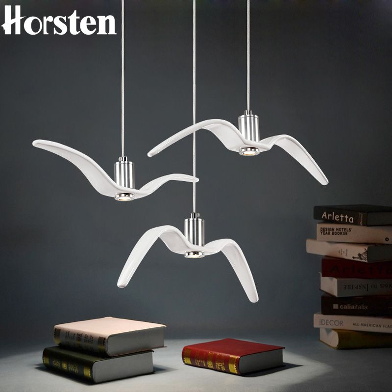 Horsten nordic modern creative sea gull pendant lights personality horsten nordic modern creative sea gull pendant lights personality seagull pendant lamp for bedroom dining room mozeypictures Images