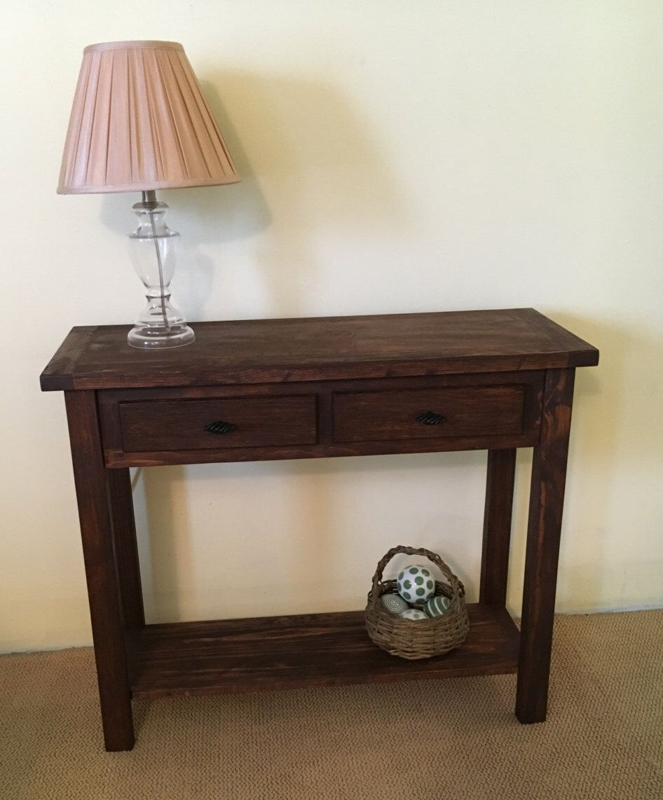 Rustic Solid Wood Console Handmade Sofa Table Solid