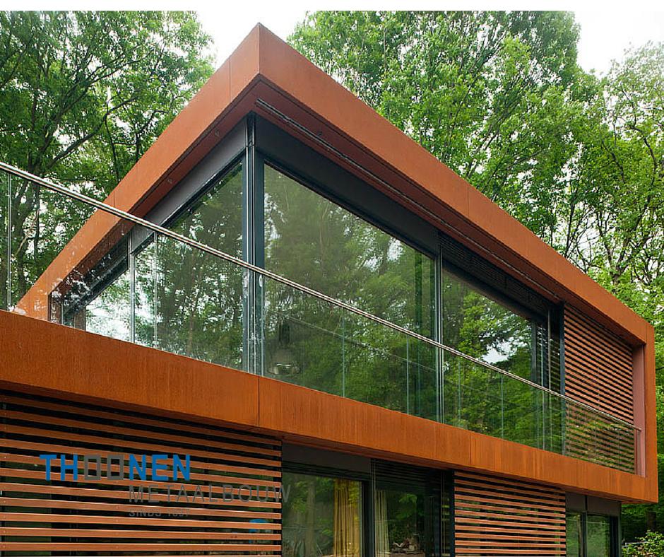 Thoonen metaalbouw is vooral bekend van het produceren van ramen deuren en gevels o a voor - Moderne huis gevel ...