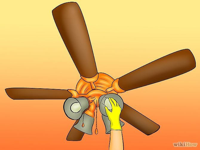Take Down Or Remove A Ceiling Fan