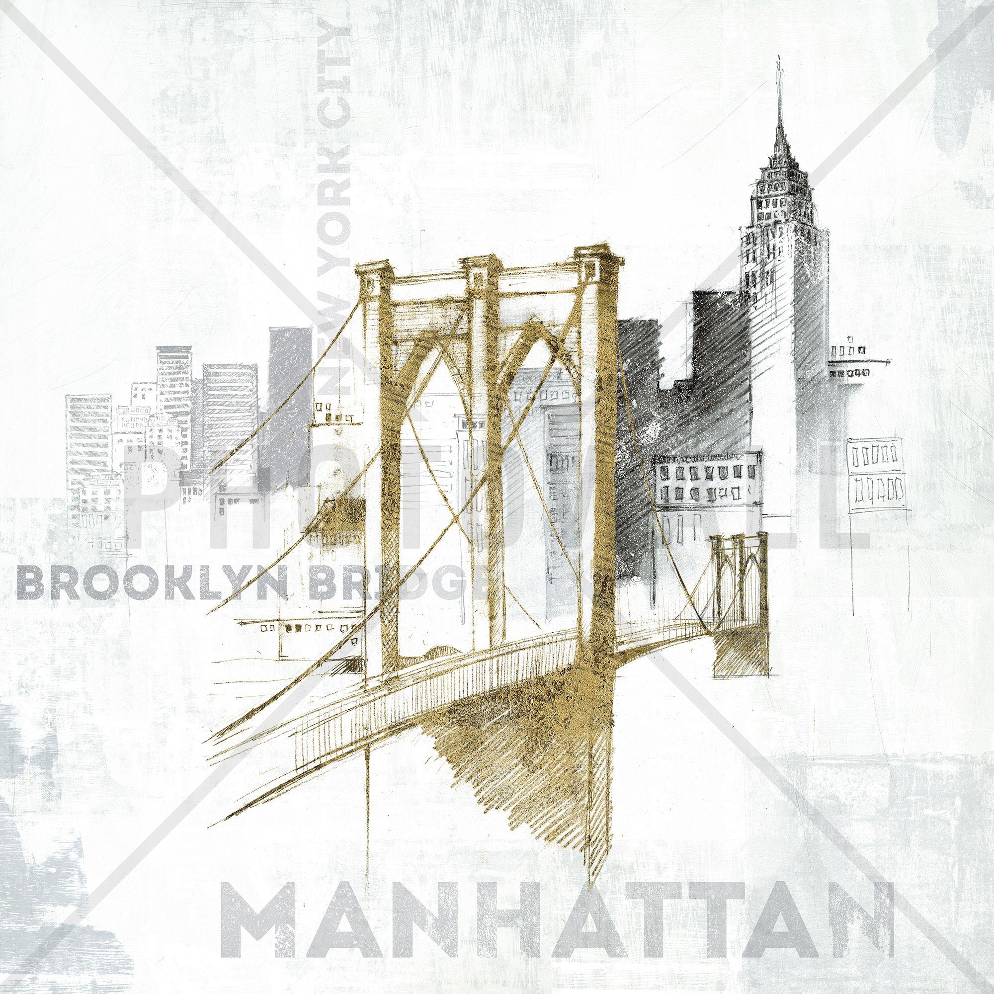 Brooklyn Bridge Wall Mural & Photo Wallpaper Photowall